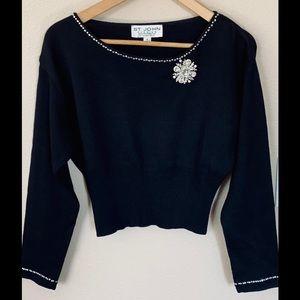 St.John Evening Crystal Embellished Sweater